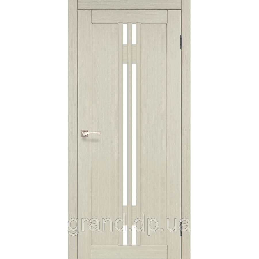 Двери межкомнатные  Корфад VALENTINO Модель: VL-05 дуб беленый с матовым стеклом