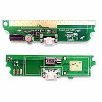 Разъем зарядки (коннектор) Lenovo A516 с нижней платой и микрофоном