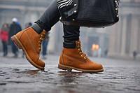 Ботинки Timberland Тимберленд (КОРИЧНЕВЫЕ) ЗИМА! ТОП качество