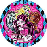 """Детские одноразовые бумажные тарелки """"Monster High"""""""