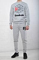 Спортивный костюм Reebok (рибок), мужской, серый