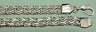 Срібний браслет без вставок ручної роботи