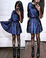 Платье с карманами нарядное и красивое