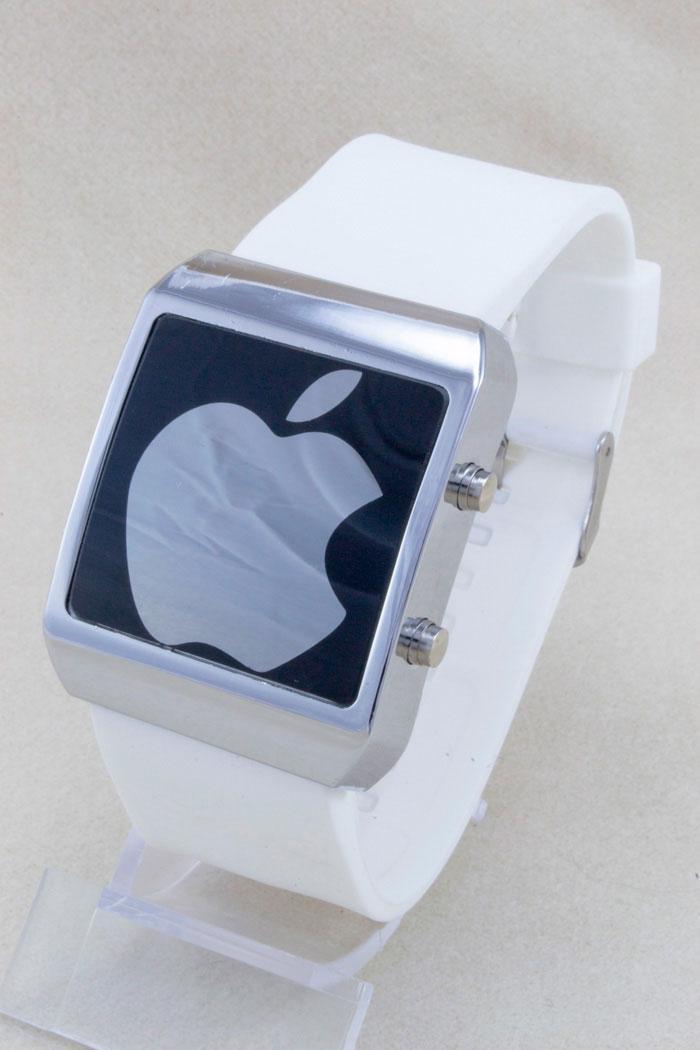 3a5741e1 Наручные Часы LED Apple Белые — в Категории