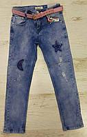 Джинсовые брюки для девочек оптом, Seagull,116-146 рр. арт. CSQ-89779