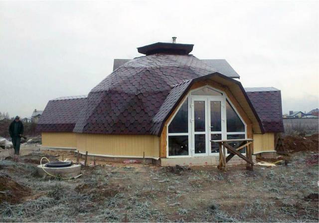 Остекление купольного дома