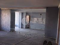 1 Раздвижная стеклянная перегородка с трех дверей