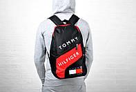 Рюкзак спортивный с красной вставкой, реплика