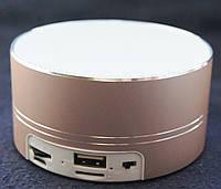 Bluetooth портативная колонка (USB, micro-SD), BO-A11, золотистая, фото 1