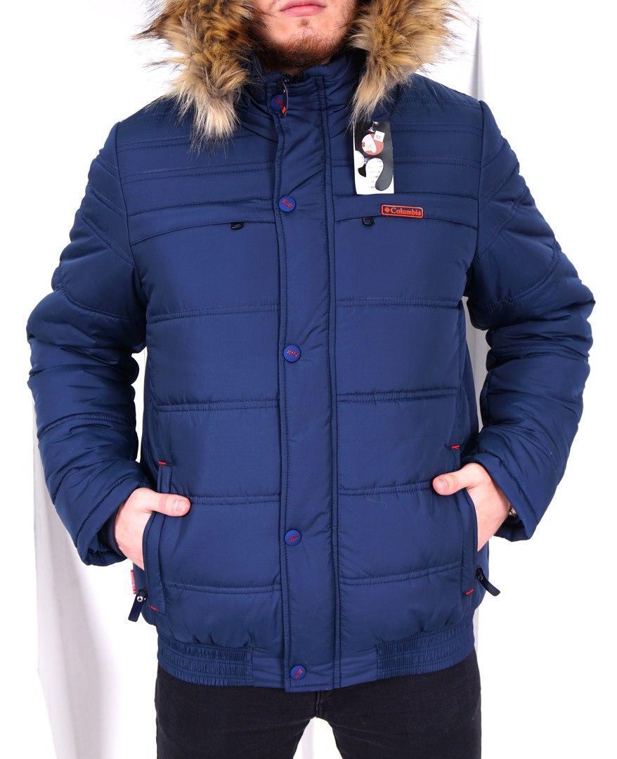 e813dc34b8fa Мужская зимняя теплая куртка с капюшоном Columbia - Интернет-магазин