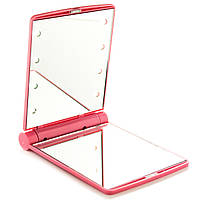 Зеркало для макияжа со светодиодами Beauties Factory Emitting Mirror For Makeup Travel розовое