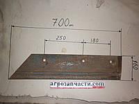 Лемех  КГЮ 01545/01546  короткий  (правый и левый)  (сормайт)  лист 12 мм.