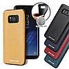 Чехол накладка для Samsung Galaxy S8 Plus G955 с кожаным покрытием PIERRE CARDIN, Elegant, темно-синий, фото 5