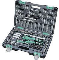 Набор инструмента 1/4 3/8 1/2 Cr-V S2 усиленный кейс 151 предметов STELS 14114