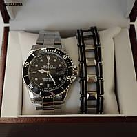 Подарочный набор: часы Rolex Submariner с браслетом