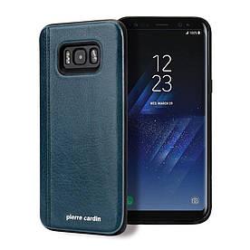 Чохол накладка для Samsung Galaxy S8 Plus G955 з шкіряним покриттям PIERRE CARDIN, Elegant, зелений