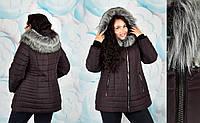 Модная зимняя женская куртка больших размеров модель Марго