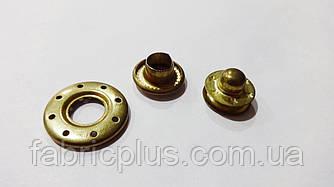 Кнопка для одежды 20 мм бублик золото