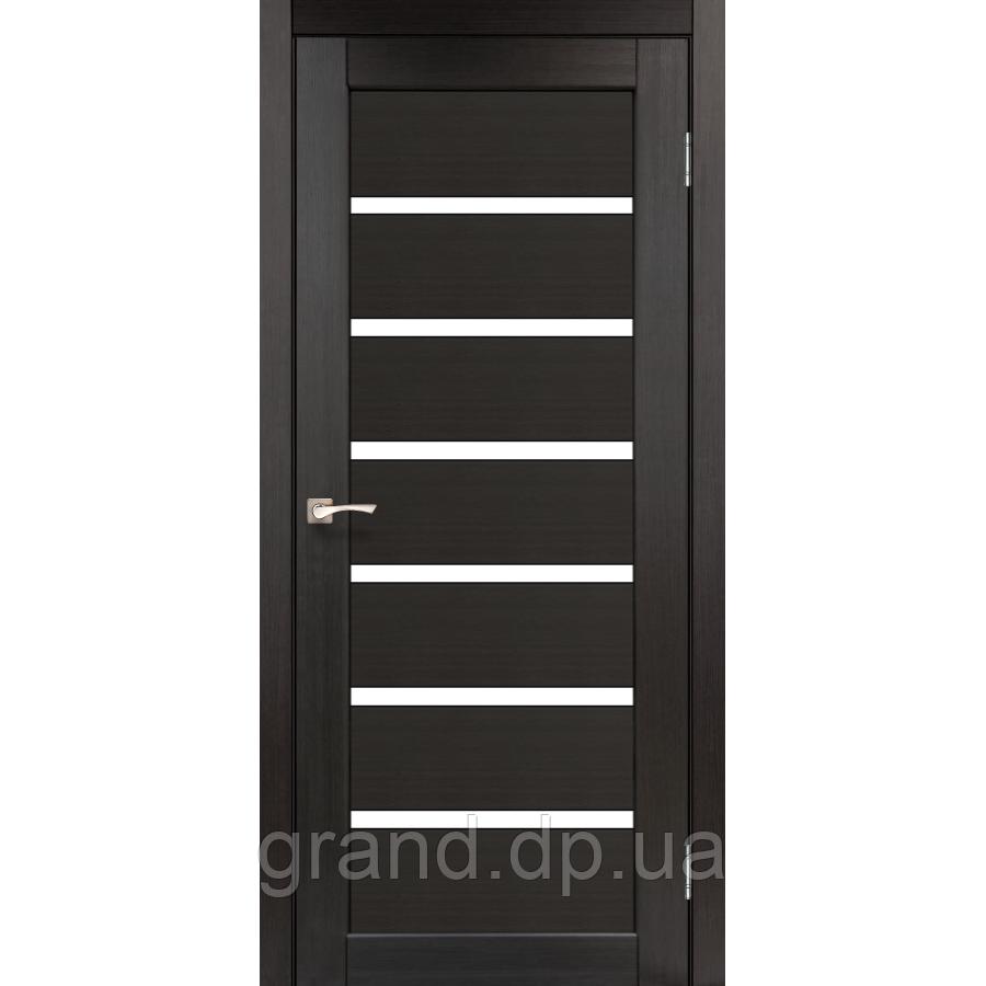 Двери межкомнатные  Корфад PORTO Модель: PR-01 венге с матовым стеклом