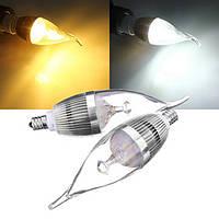 Е12 Лампа 3W 300-330lm LED люстра свечи Лампа 85-265в