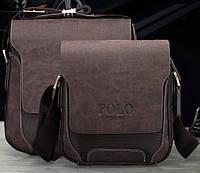 Мужская стильная кожаная сумка VIDENG POLO - Polo Pride (большая). Сумка-планшетка - сумка через плечо.