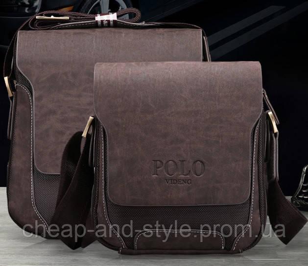 1cf18f869e29 Мужская стильная кожаная сумка VIDENG POLO - Polo Pride (большая). Сумка- планшетка