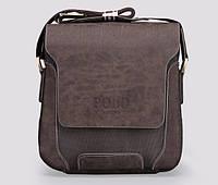 Мужская стильная кожаная сумка VIDENG POLO - Polo Pride. Сумка-планшетка - сумка через плечо.