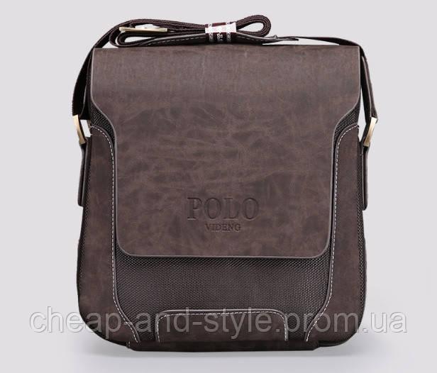 530c0eb52a40 Мужская стильная кожаная сумка VIDENG POLO - Polo Pride. Сумка-планшетка -  сумка через