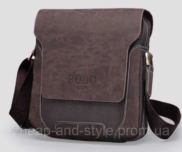 6aee53d0be49 Мужская стильная кожаная сумка VIDENG POLO - Polo Pride. Сумка-планшетка -  сумка через плечо., цена 525 грн., купить в Киеве — Prom.ua (ID#620665157)