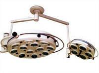 Светильник операционный ZMD-II семнадцатирефлекторный потолочный (два блока, 12+5)