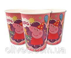 """Стаканы одноразовые бумажные """"Peppa Pig"""""""