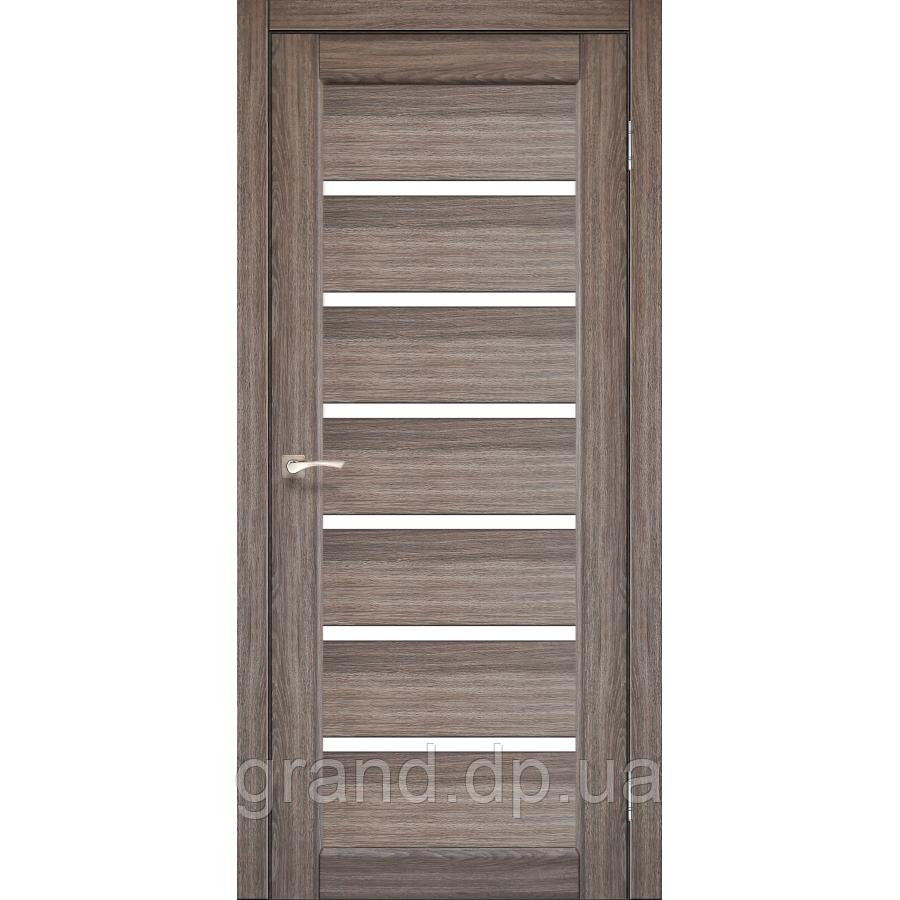 Двери межкомнатные  Корфад PORTO Модель: PR-01 дуб грей с матовым стеклом