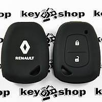 Чехол (черный, силиконовый) для авто ключа RENAULT (Рено) 2 кнопки