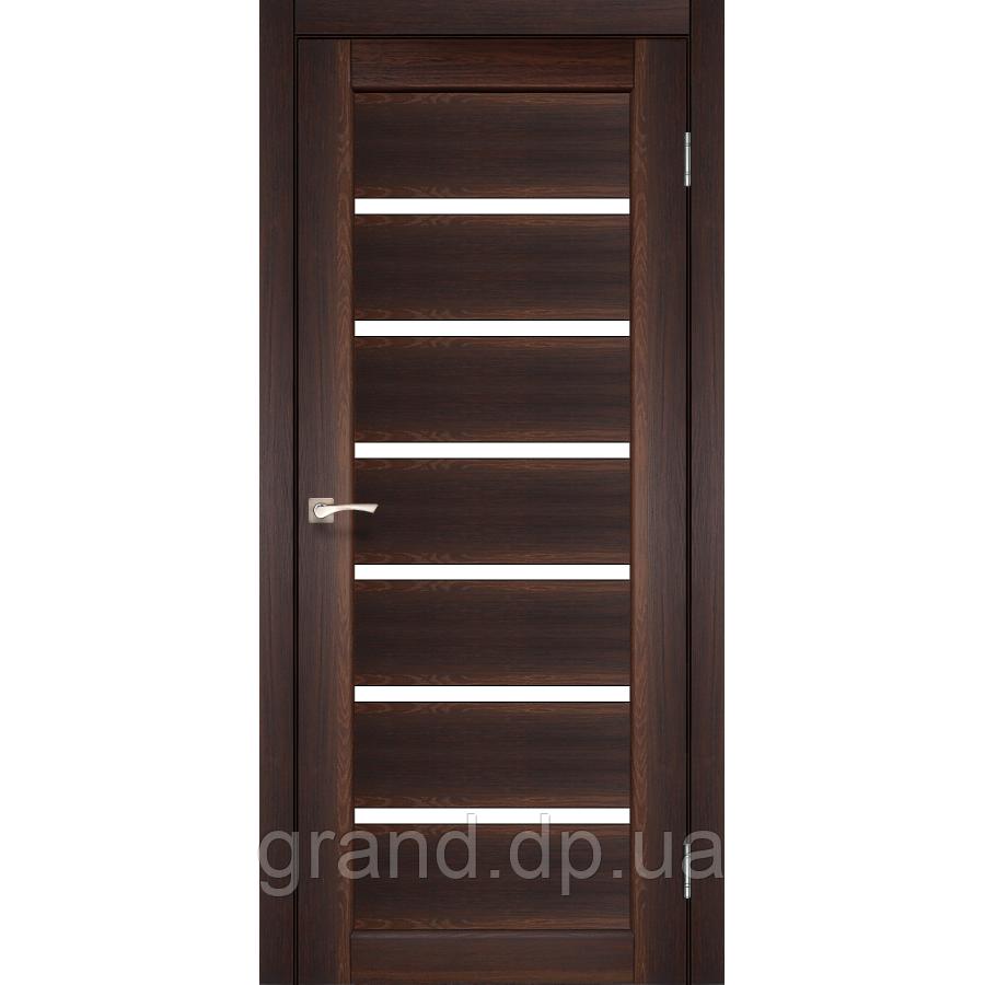 Двери межкомнатные  Корфад PORTO Модель: PR-01 орех с матовым стеклом