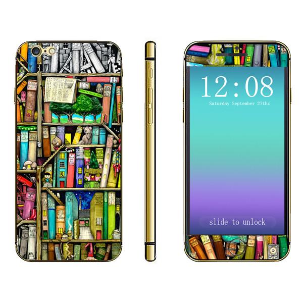 Трехмерная книжная полка Шаблон Наклейка для тела для iPhone 6 Plus & 6s Plus - ➊TopShop ➠ Товары из Китая с бесплатной доставкой в Украину! в Днепре