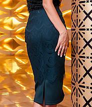 Женская юбка-карандаш с кружевом (Санити jd), фото 3
