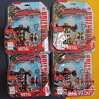 Игрушка трансформер легковая машина метал. на листе 17*5*8 см