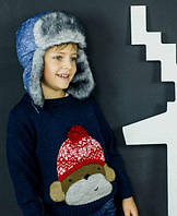 DemboHouse. Зимова шапка для хлопчика Свіфт джинс розміри 50 ea63023c9b4a8