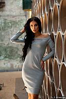 Оригинальное серое платье  321/3