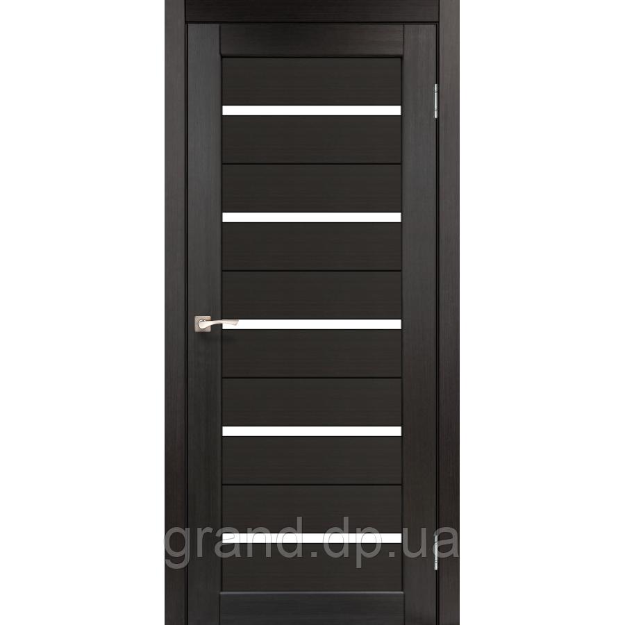 Двери межкомнатные  Корфад PORTO Модель: PR-02 венге с матовым стеклом