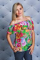Блузка женская с цветочным принтом