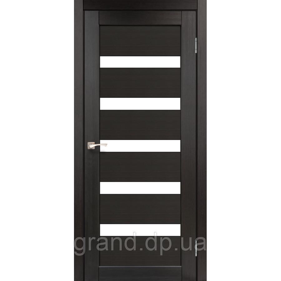 Двери межкомнатные  Корфад PORTO Модель: PR-03 венге с матовым стеклом