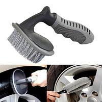 Автошины автомобиля щетки мытья автомобиля щетка для удаления изогнутой кистью автомобильных шин