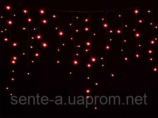 Гирлянда светодиодная наружная Icicle  120LED 2x0.9m  красный/черн IP44 Delux EN