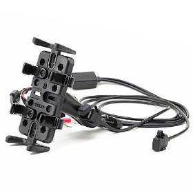 Мотоциклетный навигатор телефона Кривой рот кронштейн с зарядным устройством - 1TopShop