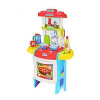 Кухня голубая WD-B22 (плита, духовка, посуда, продукты; детская игрушечная кухня) Royaltoys