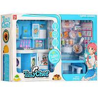 Мебель для кукол 381-3 Кухня со светом и звуком (кухня 25-28-9,5см, посуда, стол, стулья, продукты) Royaltoys