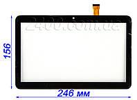 Сенсор, тачскрин для планшета Nomi C10102 Terra+ черный 156*246 мм