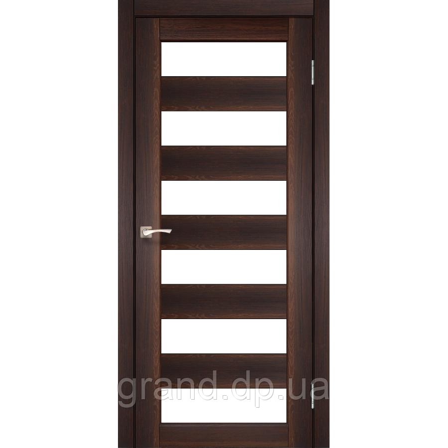 Двери межкомнатные  Корфад PORTO Модель: PR-04 орех с матовым стеклом