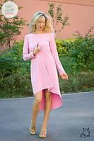 Платье с асимметричным подолом для беременных и кормящих HIGH HEELS MOM (розовый, размер S), фото 1
